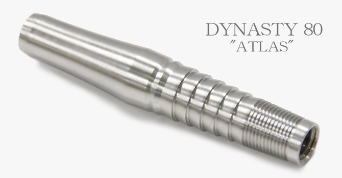 ATLAS 80% Tungsten Barrel. Weight 17.0gr. Length 42.0mm. MAX-Diameter 7.8mm.